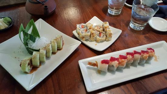 Delicious sushi rolls and soba soup! - Picture of Takashi, Salt Lake ...