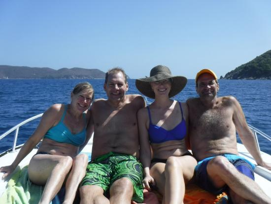 West End, Tortola: A Wonderful day exploring snorkeling location with Deb....