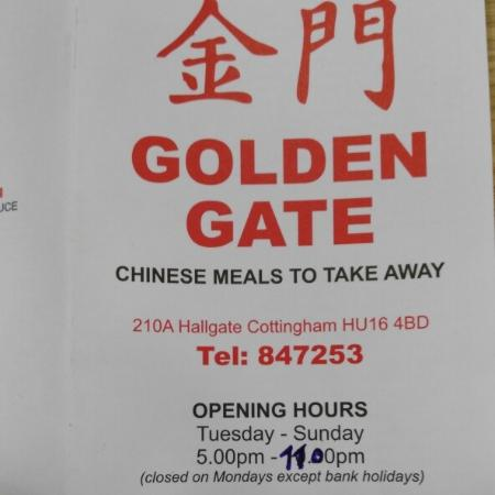 Chinese takeaway on Hallgate in Cottingham