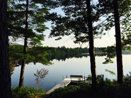 Manitowish Waters, WI: View from Bayview cabin, overlooking a quiet bay.
