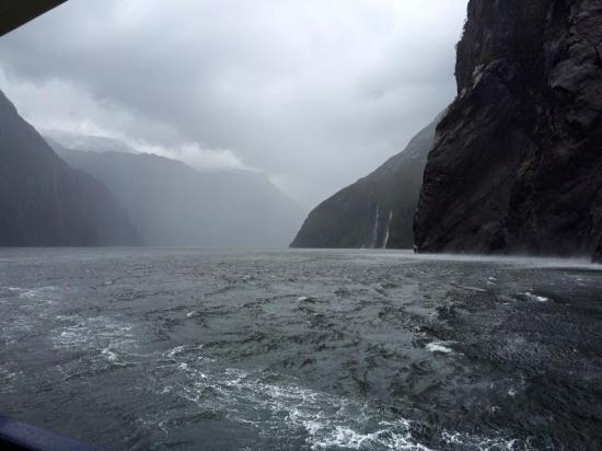 Milford Sound: Cloudy day