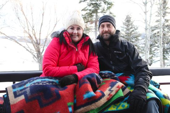 Spring Creek Ranch: Blankets in the sleigh