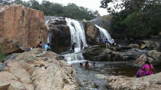 Andhra Pradesh, India: Kaigal Water Falls - As seen from different angle