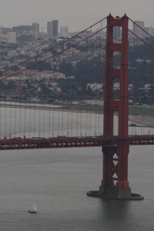 Sausalito, CA: Close up of the GG brdge