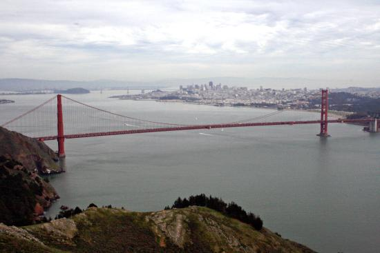 Sausalito, CA: SF and GG bridge
