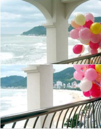 Songjung Hotel : 송정해수욕장이 보이는 오션뷰. 객실에 테라스가 있어 여름에 특히 좋아요.