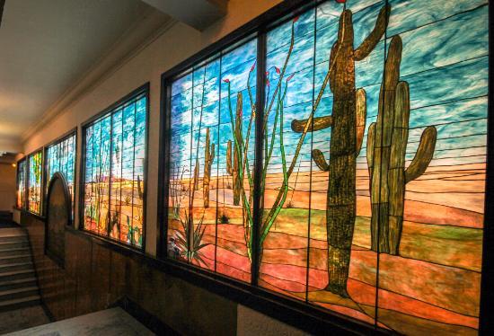 Douglas, Аризона: Original Tiffany & Co. stained glass