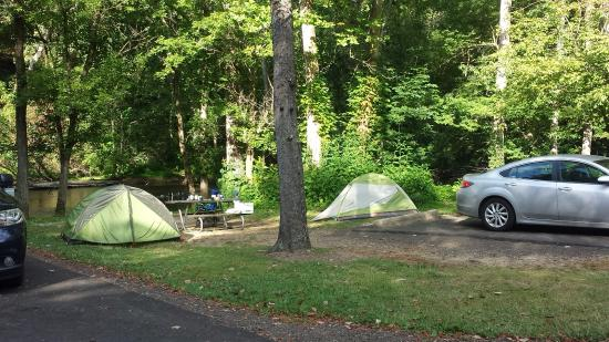 Loudonville, OH: Kelty and REI tents.