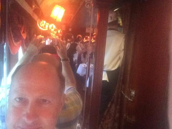 South Melbourne, Australia: selfie with the tram cabin in the mirror