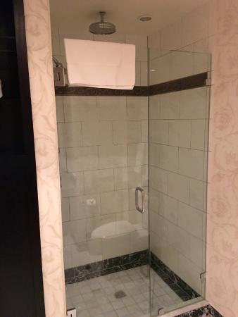 Walk in shower with rainfall shower head! - Picture of The Brown ...