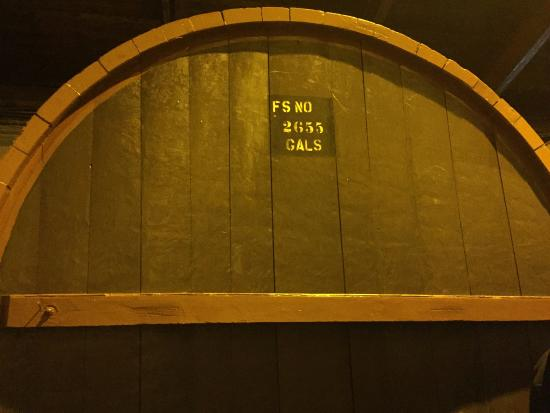 Renault Winery: One of the old wine barrels seen on the tour. Does not contain wine anymore.