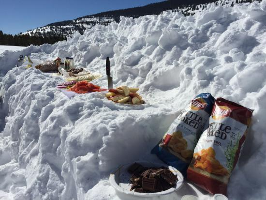 Silverton, CO: The crew lays out a great lunch everyday!