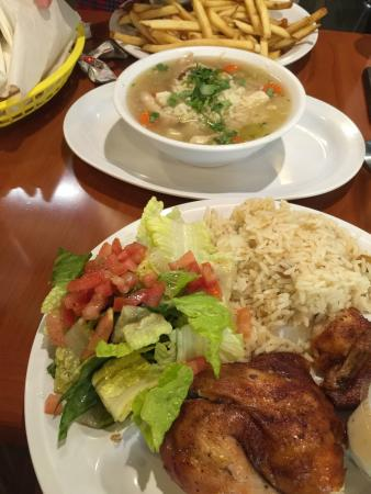 Gardena, CA: Chicken plate and chicken grandma soup