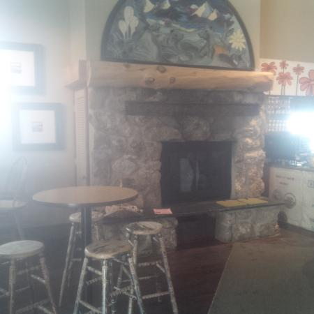 Winter Park, CO: Inside photo with fireplace and seating