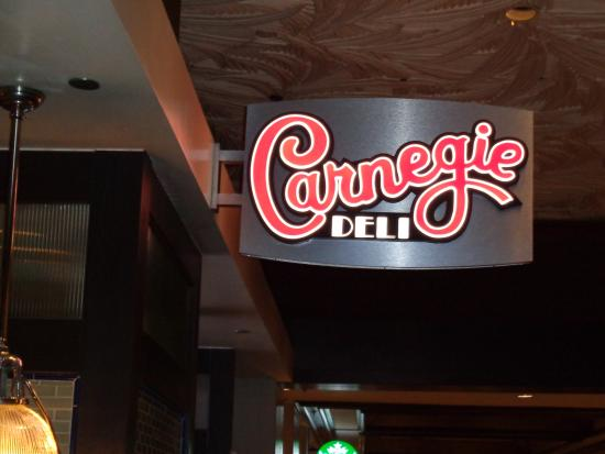 Carnegie Deli at the Mirage : Front sign