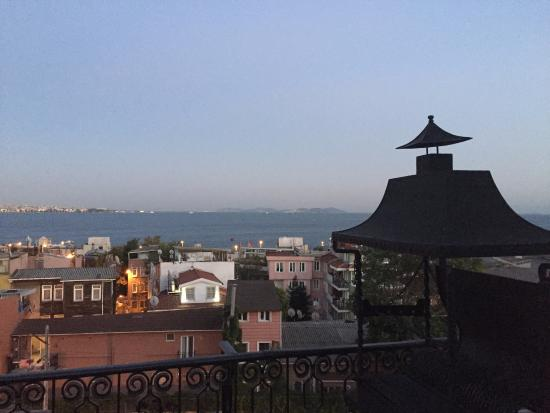 Avicenna Hotel: breathtaking views from my suite's tiny terrace