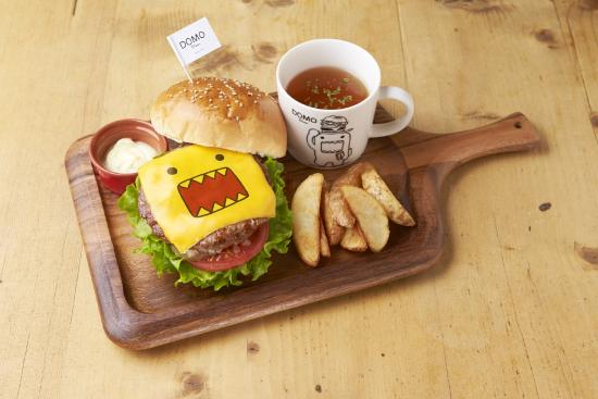 domo burger w cheese comes with original domo mug cup picture