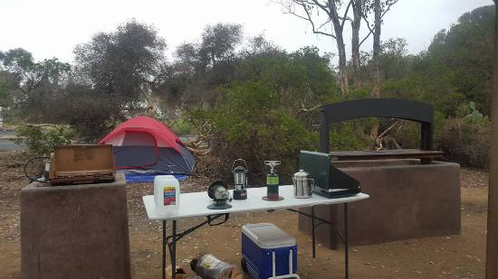 San Clemente State Beach: BBQ pits in group sites....this is two of the 3 cooking pits and 2 fire pits also available!
