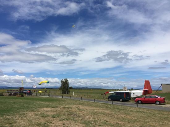 Taupo, New Zealand: landing