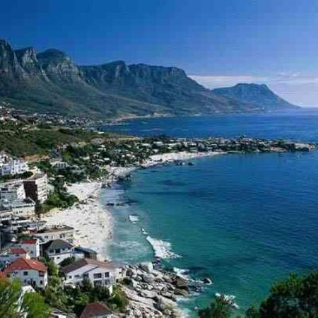 Clifton Beach With The Twelve Apostles Mountains In The