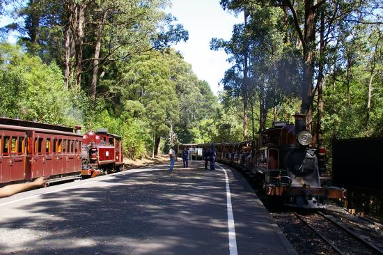 Emerald, Australia: Puffing Billy arrival at Lakeside Station