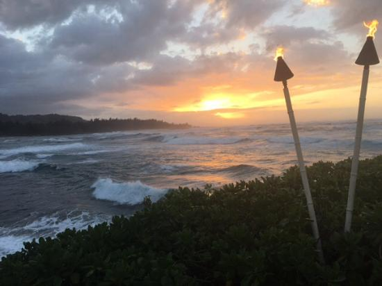 sunset view from my pool lounge chair picture of turtle bay resort rh tripadvisor com