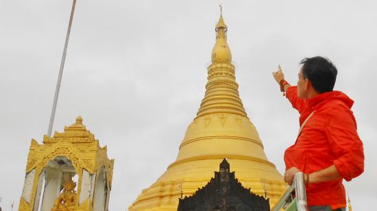 Sittwe, Burma: This is a view of Pagoda from west side. This is also one historic pagoda which exists its degni