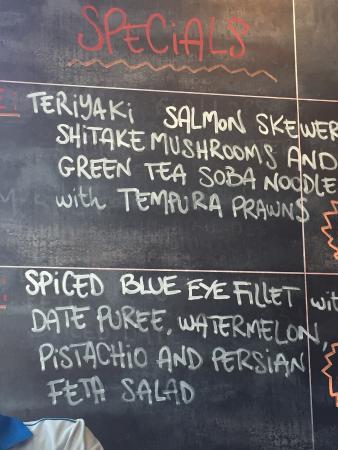 Richmond, Australia: Seasonal dishes on the wall