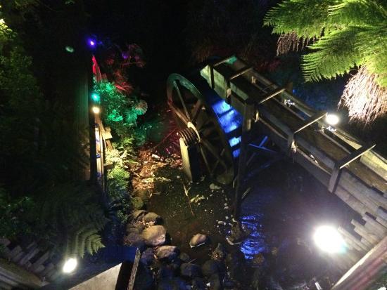 New Plymouth, Nova Zelândia: beautiful light display in the Park