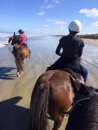 Invercargill, Nueva Zelanda: Beautiful sunny ride along Oriti Beach.