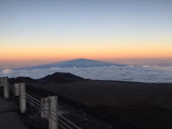 Mauna Kea Summit: Shadow of Mauna Kea just before sunset.