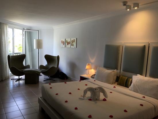 Ambre Resort - All Inclusive: La chambre après le ménage du matin