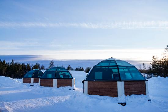 Sinetta, Finland: View of the glass igloos