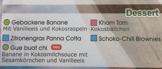 Nam Nam: Speise-/Bestellkarte
