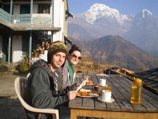 Kathmandu Valley, Nepal: What a view for breakfast!