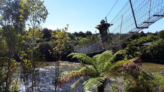 Tuatapere, Nova Zelândia: You can walk across the swing bridge, too.