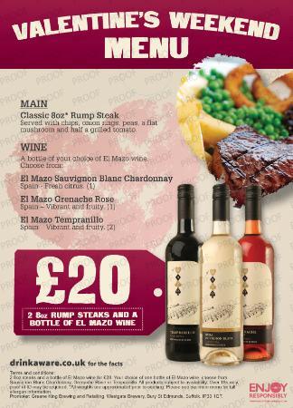 Chorley, UK: Our Valentines menu