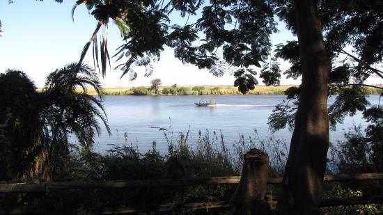 Chobe National Park, Botswana: View of the Zambezi river from our room! Finally a view that was amazing!