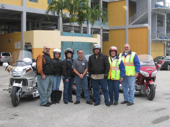 Homestead, FL: Photo with Greg Ewald who lead us around the track and took our photo. Thank You Greg