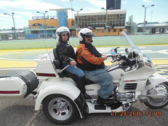 Homestead, FL: On the track start/finished line