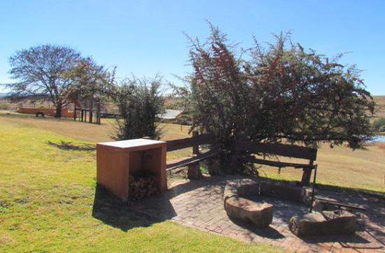 Fouriesburg, Sydafrika: View from Bush House braai area
