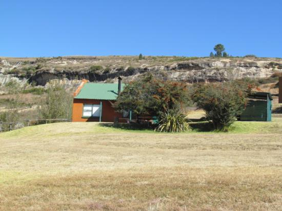 Fouriesburg, Afrika Selatan: View towards Bush House front