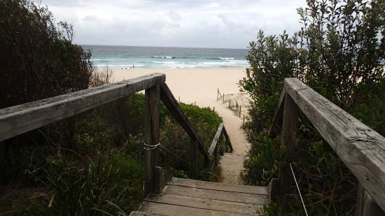 Steps down to Blueys Beach