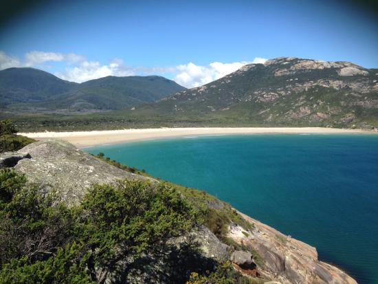 view from pillar point back to tidal river near yanakie. Black Bedroom Furniture Sets. Home Design Ideas