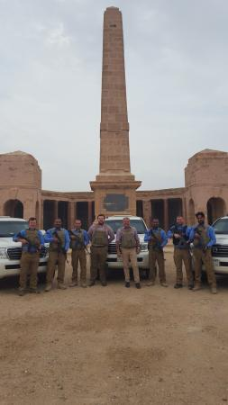 Basrah Province, Irak: Me in the middle without a gun. Basra, Iraq, War Memorial