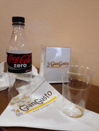 Fucecchio, Italia: Pranzo finito.......ah bene. Piadina light coca zero e si riparte! Grazie