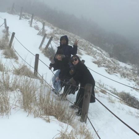 Hallasan National Park: 2016,02,05. Eoseungsaengak climbing.  Mt.Hallasan, Jeju island, South Korea!