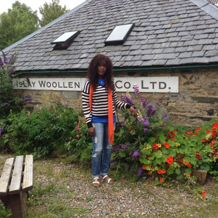 Bridgend, UK: August blooms at the Islay Woollen Mill