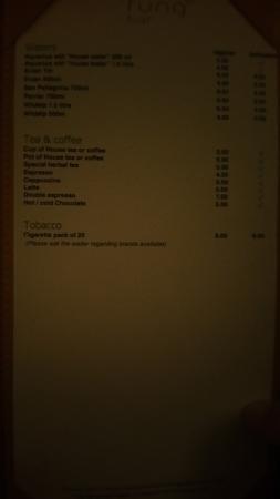 Kuramathi: Carte cocktails bars (4)