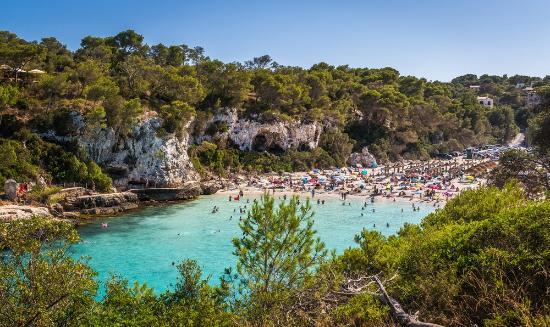 Santanyi, Espagne : вид со скалы на бухту